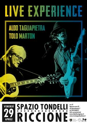 ROCK  LIVE EXPERIENCE: Aldo Tagliapietra, basso e Tolo Marton, chitarra