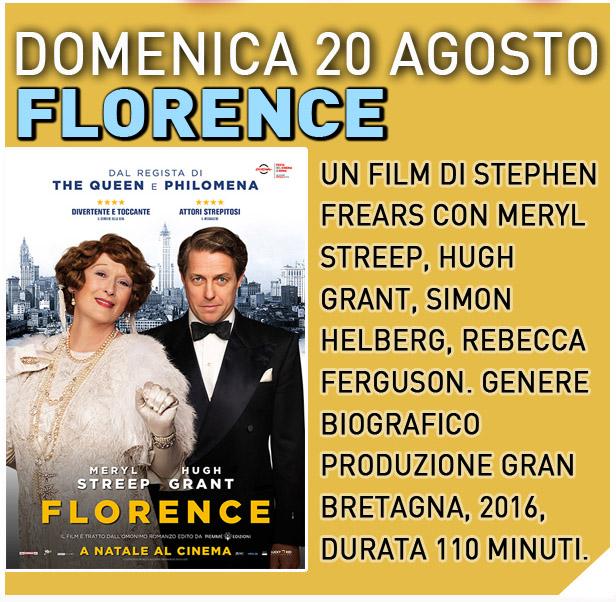 CINEMA IN GIARDINO: FLORENCE