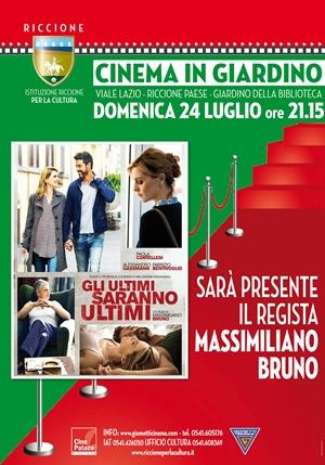"""CINEMA IN GIARDINO- RED CARPET: MASSIMILIANO BRUNO in """"GLI ULTIMI SARANNO GLI ULTIMI"""""""