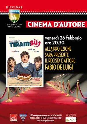 RICCIONE CINEMA D'AUTORE RED CARPET: FABIO DE LUIGI presenta TIRAMISU