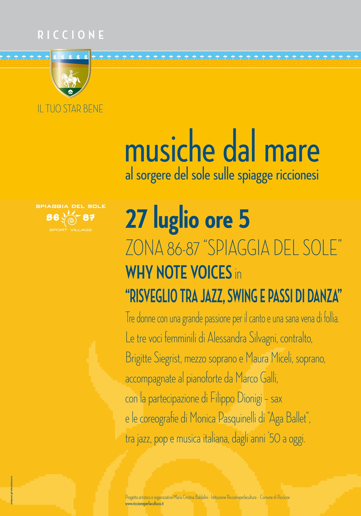 MUSICHE DAL MARE: concerti al sorgere del sole WHY NOTE VOICES