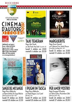 RICCIONE CINEMA D'AUTORE : ottobre 2015