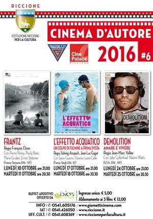 RICCIONE CINEMA AUTORE: OTTOBRE 2016