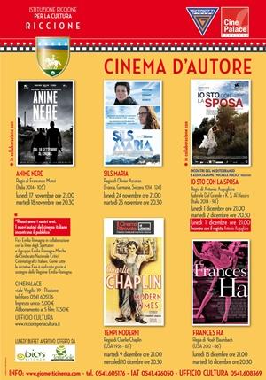 RICCIONE CINEMA D'AUTORE: NOVEMBRE DICEMBRE 2014