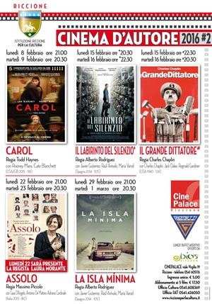 RICCIONE CINEMA D'AUTORE : febbraio 2016