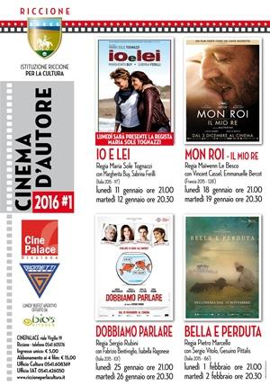 RICCIONE CINEMA D'AUTORE :gennaio 2016