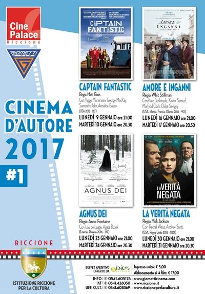 RICCIONE CINEMA AUTORE : gennaio 2017