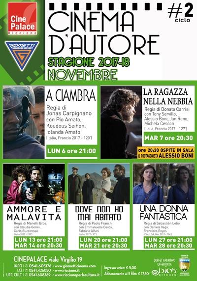RICCIONE CINEMA D'AUTORE :NOVEMBRE 2017