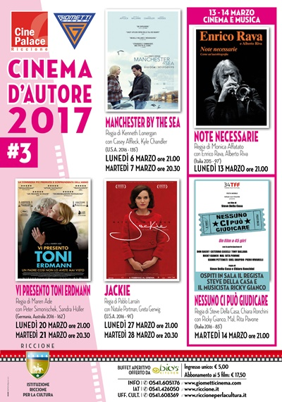 Riccione cinema d'autore: marzo 2017
