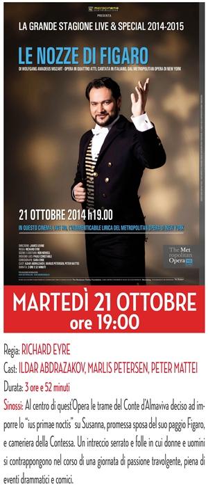 GRANDE MUSICA SU GRANDE SCHERMO: Le Nozze di Figaro