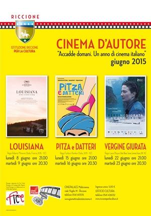 RICCIONE CINEMA D'AUTORE : giugno 2015