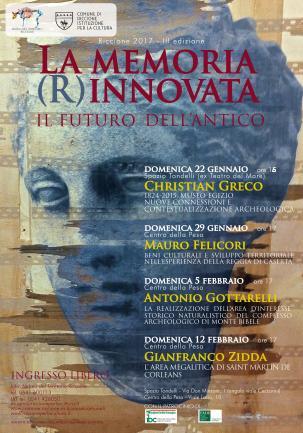 """Ciclo conferenze """"La memoria (R)innovata. Il futuro dell'antico"""" -  III edizione"""