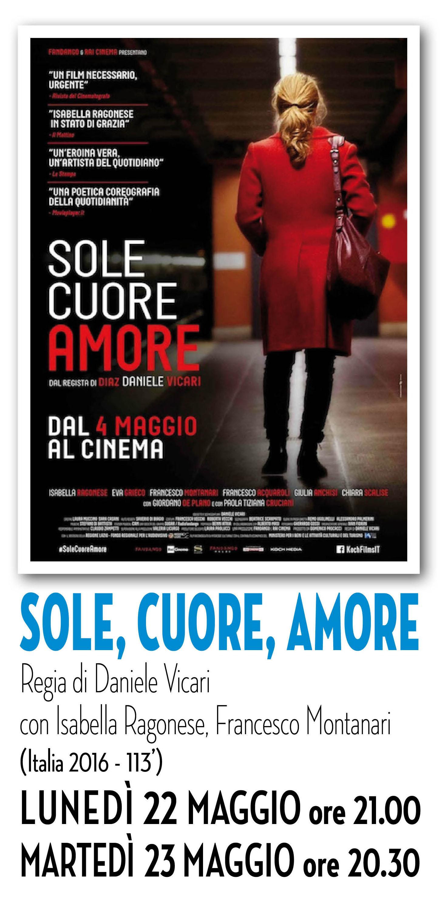 Riccione cinema d'autore: SOLE CUORE AMORE