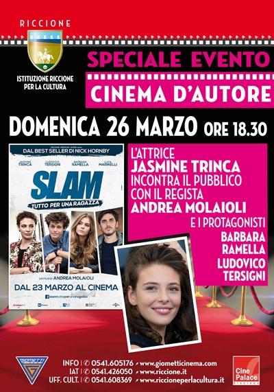 CINEMA D'AUTORE RED CARPET:JASMINE TRINCA con il regista e gli attori di Slam