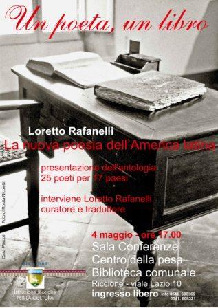 """Un poeta, un libro. Loretto Rafanelli presenta """"La nuova poesia dell'America latina"""""""