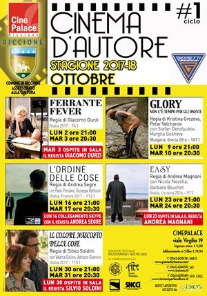 RICCIONE CINEMA D'AUTORE :OTTOBRE