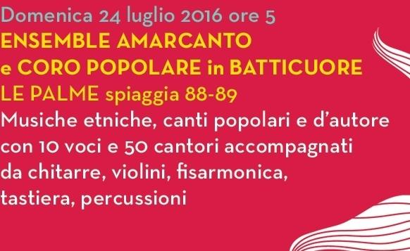 MUSICHE DAL MARE: ENSEMBLE AMARCANTO E CORO POPOLARE