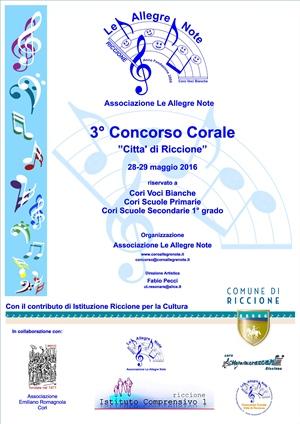 CONCERTO DEL CONCORSO CORALE CITTA' DI RICCIONE