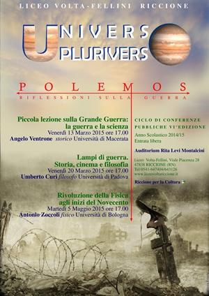 UNIVERSO/PLURIVERSO: LA GRANDE GUERRA