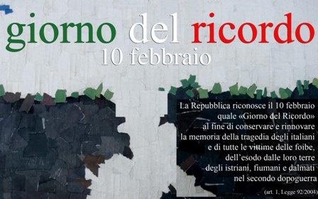 Mercoledì 10 febbraio. Il giorno del ricordo in memoria delle vittime delle foibe