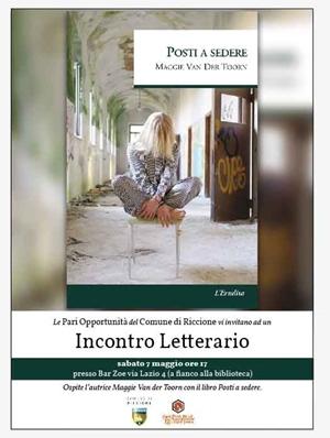 "Presentazione libro ""POSTI A SEDERE"" della scrittrice Maggie Van der Toorn"